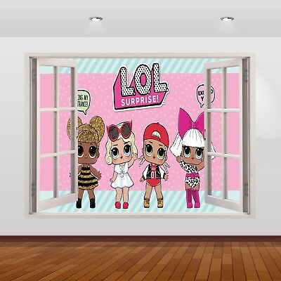 Mini Baby Dolls Wall Sticker LOL Dolls 3D Wall Decal Removable Toys