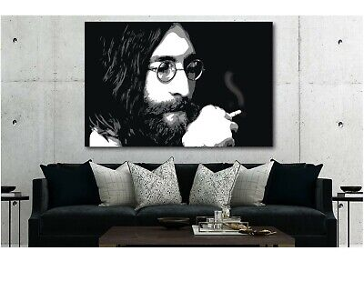 The Beatles John Lennon Smoking Poster Canvas Print Art Decor Wall