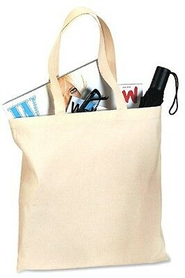 12 BLANK Canvas TOTE BAG Shopping crafts U PICK COLOR