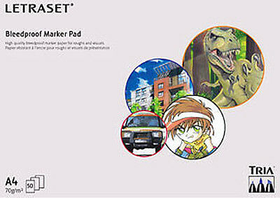 Letraset A4 Bleedproof Marker Pad  Promarker Tria Manga