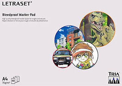 Letraset A4 Bleedproof Marker Pad  Promarker Tria Manga