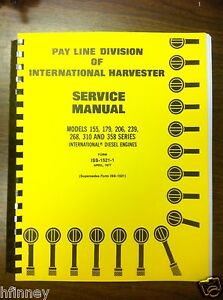 international dresser td7e td8e 100e 125e dt239 engine service rh ebay ca TD8E Parts TD8E Parts
