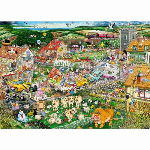 GIBSONS I LOVE SPRING 1000 PIECE MIKE JUPP CARTOON JIGSAW PUZZLE