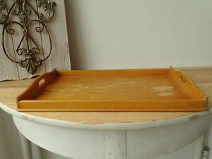 S3082 Altes Tablett aus Holz ~ Vintage ~ Holztablett ~ Serviertablett ~ Antik