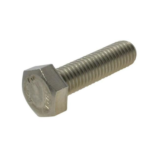 Pack Size 2 Stainless G316 Hex Set M10 (10mm) x 25mm Metric Coarse Screw Bolt