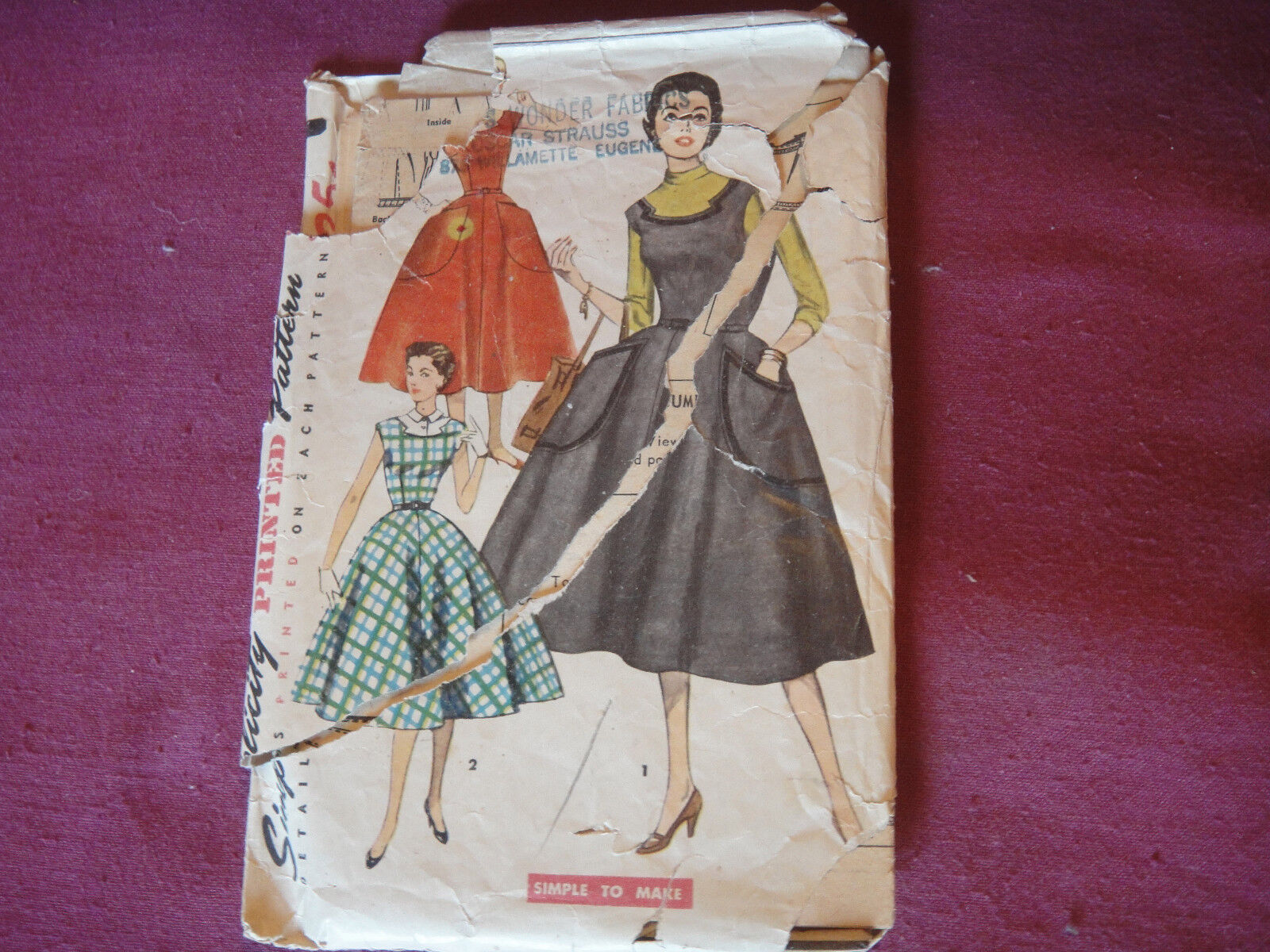 Very retro cool Vintage Jumper Romper Pattern Make Pattern to add to your vintage wardrobe or display in sewing room! Size 14..36 in bust