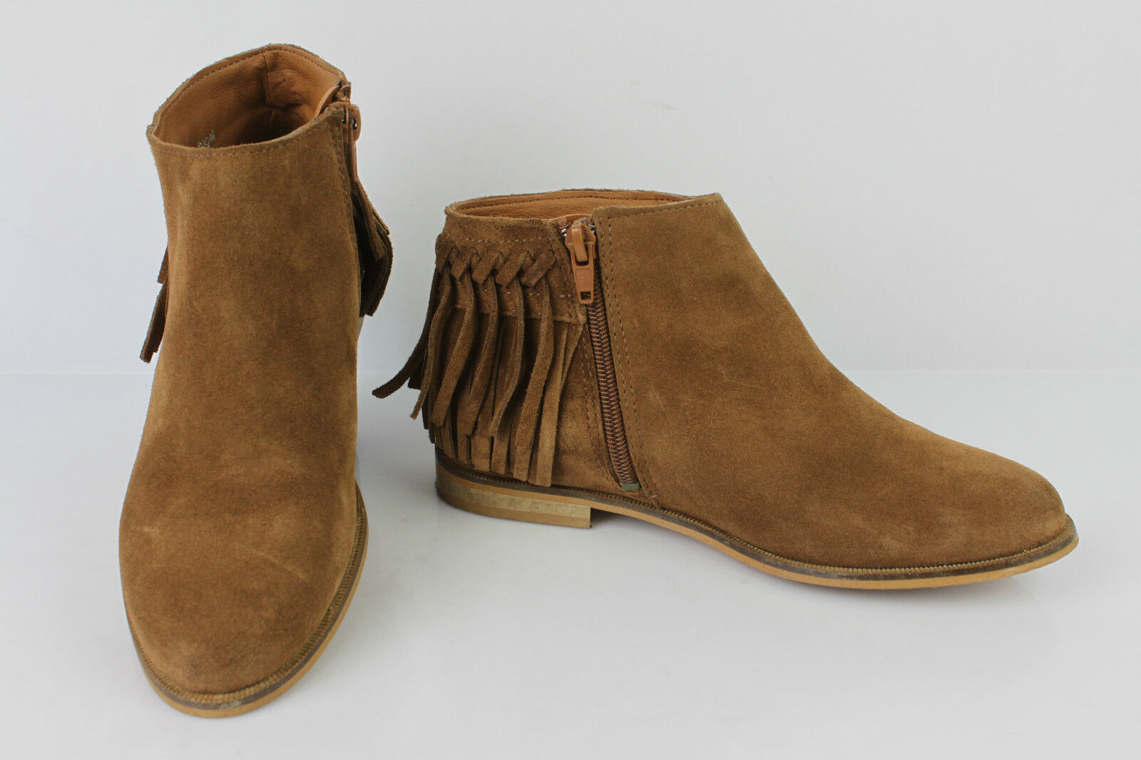 Bottines Boots à Franges ANDRE Daim brown T 35 TBE