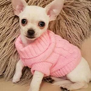Chien Chiot Chat Animal Pull Vêtement Compagne tricot Epais Veste Manteau Hiver