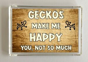 Gecko-Gift-Novelty-Fridge-Magnet-Makes-Me-Happy-Ideal-Present-Birthday
