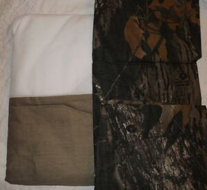 REALTREE-Twin-Bed-Skirt-amp-Pillow-Sham-Army-Green-w-Mossy-Oak-Breakup-Design-NIP