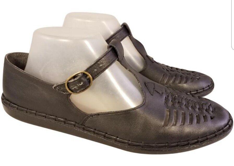 RIEKER Damenschuhe Schuhe MARY JANES EUR 40/9 40/9 40/9 BLACK LEATHER 6d88ea