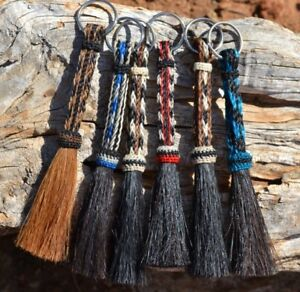 Beautiful-100-Horse-Hair-Key-Ring-Chain-Various-Colors-Great-Gift