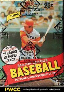 1980 Topps Baseball 36ct Wax Box, Henderson RC?, BBCE