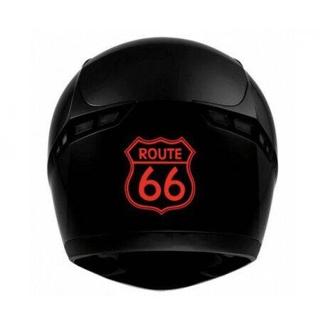 Route 66 transparent - autocollant sticker voiture moto bleu