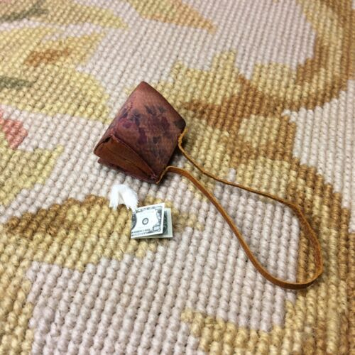Pat Tyler Dollhouse Miniature Purse Hand Bag Valise Pocketbook Floral p714