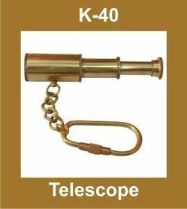 NEW-TELESCOPE-LOOK-NAUTICAL-KEY-RING-KEYCHAIN-KEY-FOB-KEY-BRASS-MADE