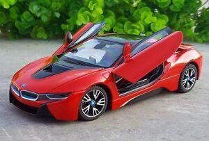 Rastar 1 24 Bmw I8 Concept Car Diecast Model New In Box Red Ebay