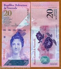 VENEZUELA 20 BOLIVARES UNC # 84