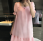 Retro-Womens-Pajama-Square-Neck-Short-Dress-Cotton-Lolita-Sleepwear-Nightgown thumbnail 2