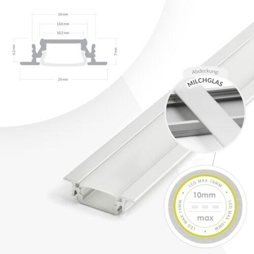 LED Profil Leiste Schiene Trockenbau Fliesen Enkappen Montageklammern TOP