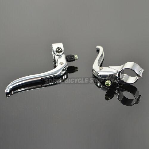 Silver ALHONGA Fixed Gear Road Bike Brake Lever 23.8mm