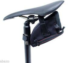 "XLC ""WIDE MOUTH"" BICYCLE LARGE AERO WEDGE SEAT SADDLE BAG w/ STRAPS, EXPANDABLE"