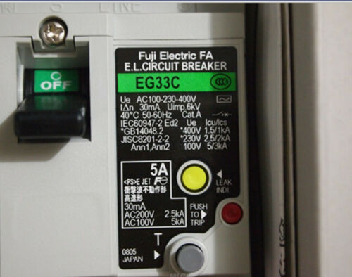 1pcs Fuji leakage circuit breakers EG33C 5A
