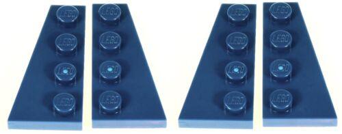 Lego Dark Blue Wedge Plate 2x4 4 pieces NEW!!!