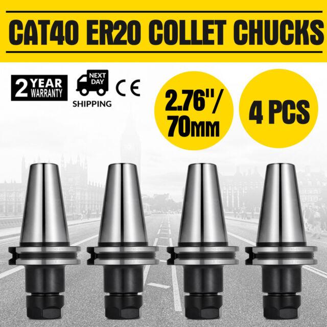 "4Pcs CAT40 ER20 Mini Collet Chuck Tool Holder 3.0/"" Balanced G2.5 20000RPM"