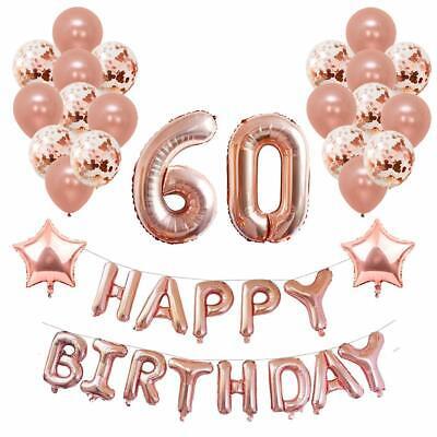 Yoart 40th Oro Rosa Decoraciones de cumpleaños para Mujer y niña fiesta provisiones..