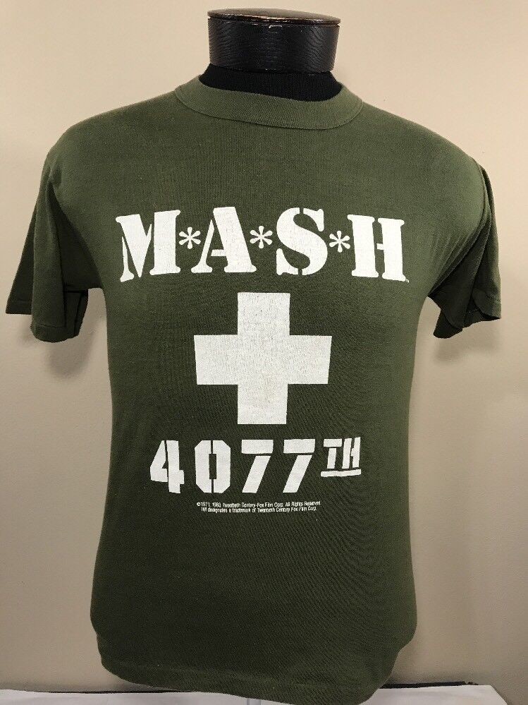 VTG Mash T Shirt 1982 Signal 50 50 Thin 80s Small 20th Century Fox TV Show Tee