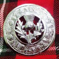 Large Thistle 3 Kilt Brooch
