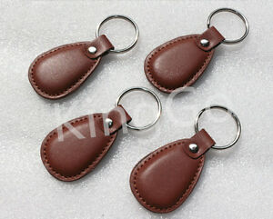 Details about 20pcs 125kHz RFID leather Proximity Access ID Card Entry Lock  Door Keyfob Ring