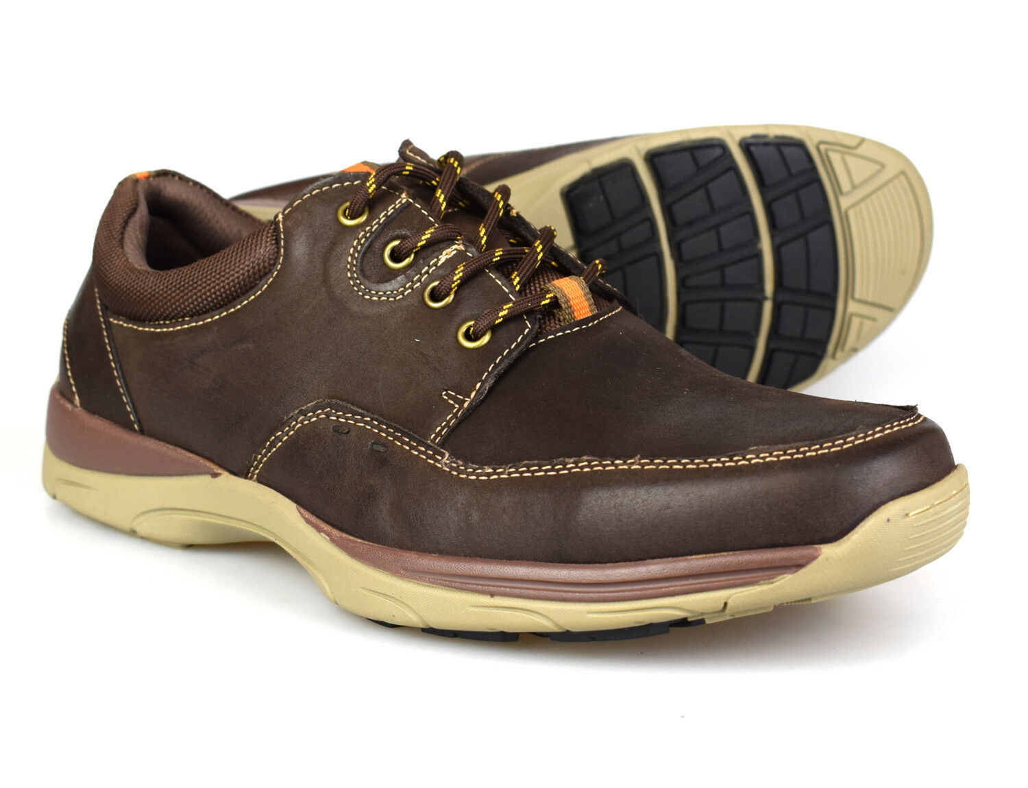 Catesby Mens Casual Brown Leather shoes BD171883 UK 7-12 Free UK P&P