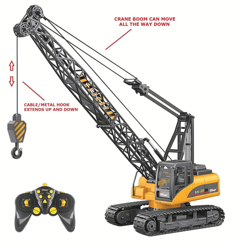 Top Race 15 Channel  Remote Control Crane Proffesional Series 1 14 Scale - Batt  tutti i beni sono speciali