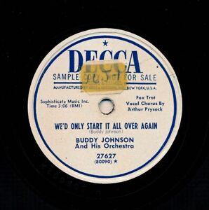 R-amp-B-78-BUDDY-JOHNSON-with-ARTHUR-PRYSOCK-on-E-1951-Decca-27627-Promo