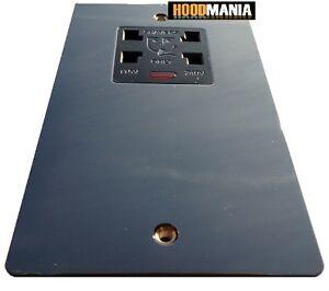 DETA Noir Finition Nickel Plaque Plane Dual Voltage Shaver Socket Fluo 115 V 230 V