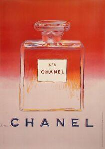 Original-Pop-Art-Poster-ANDY-WARHOL-CHANEL-N-5-perfum-Haute-couture-1997