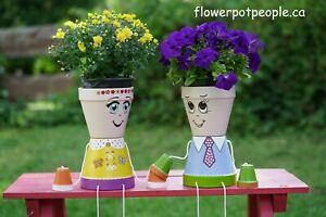Flower pot people couple