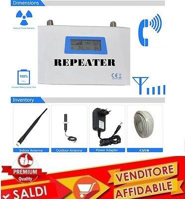 AMPLIFICATORE DI SEGNALE GSM MICRO POWER REPEATER ANTENNA PER CELLULARE DISPLAY