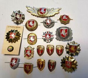 Litauen Polizei Abzeichen Badges RAR