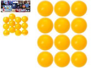 12 x 35 mm jaune//orange de rechange bière Ping Pong Balle Boules Drinking Games Parti