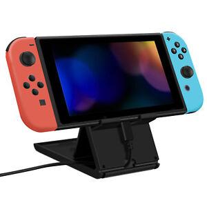 For-Nintendo-Switch-Foldable-Desktop-Holder-Playstand-Mount-Stand-Bracket-Black