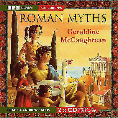 1 of 1 - ROMAN MYTHS - GERALDINE MCCAUHREAN - READ BY ANDREW SACHS - 2 CD AUDIO BOOK NEW