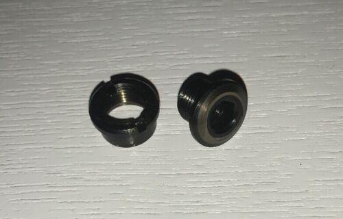 Black Titanium Set Of 5. Trip9 Titanium Chainring Bolts