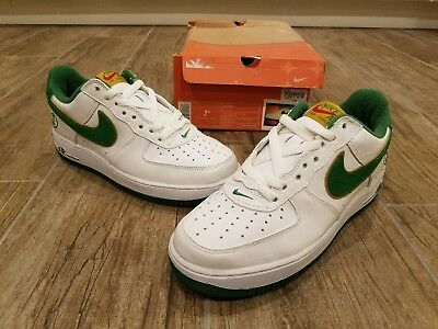 2004 Nike Air Force 1 Low Men's Size 7.5 Green LT Ginger | eBay