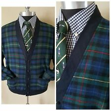 Nos Pendleton Tartan Plaid Bomber Golf Jacket Coat Large 40 42 Rockabilly Mod