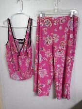 STUDIO WOMENS PAJAMA MEDIUM PJ Sleepwear SHORTS SILKY POLY INTIMATES PINK