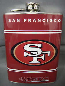 91188b96 Details about SAN FRANCISCO 49ERS CLASSIC LOGO RED STAINLESS STEEL 8oz FLASK