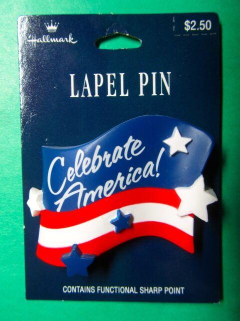 USA FLAG LAPEL PIN STARS STRIPES OLD GLORY EAGLE RED WHITE BLUE ANTHEM PATRI X-1